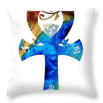 Unity 15 - Spiritual Artwork Throw Pillow by Sharon Cummings