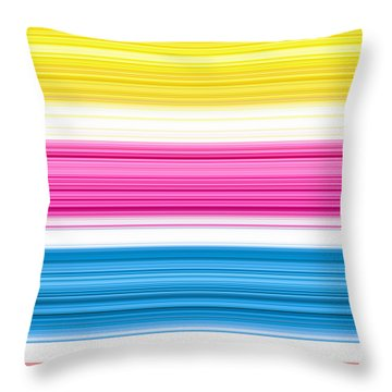 Unity Of Colour 3 Throw Pillow by Tim Gainey