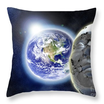 Alone In The Universe Throw Pillow by Stefano Senise