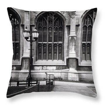 University Of Chicago 1970s Throw Pillow by Joseph Duba