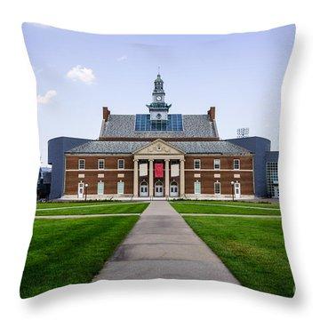 University Of Cincinnati Tangeman University Center  Throw Pillow by Paul Velgos