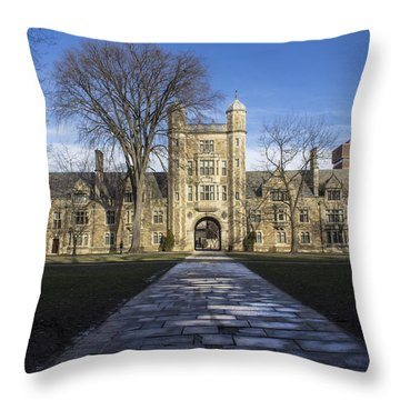 University Of Michigan Campus Throw Pillow by John McGraw