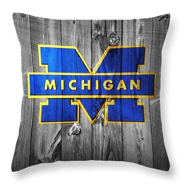 University Of Michigan Throw Pillow by Dan Sproul