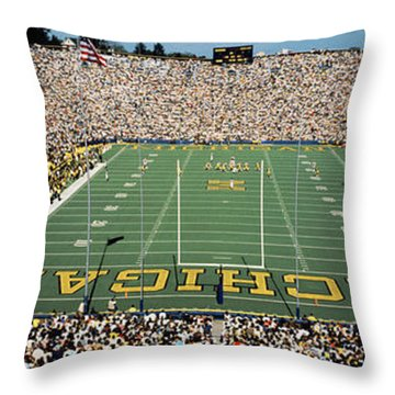 University Of Michigan Stadium, Ann Throw Pillow by Panoramic Images
