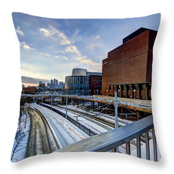 University Of Minnesota Throw Pillow by Amanda Stadther