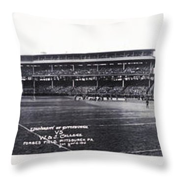 University Of Pittsburgh Vs W And J College Forbes Field Pittsburgh Pa 1915 Throw Pillow by Bill Cannon