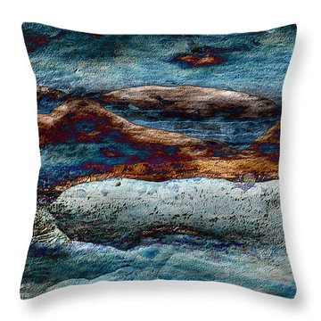 Untamed Sea 2 Throw Pillow by Carol Cavalaris