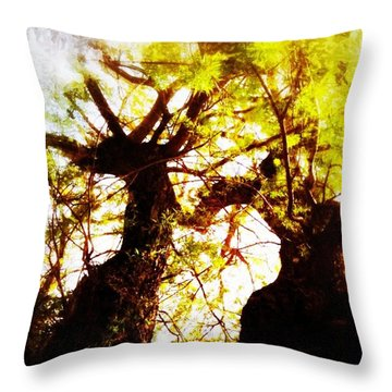 Untitled-twin Trees Throw Pillow by Juliann Sweet