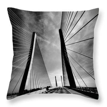 Up N Over Throw Pillow by Robert McCubbin