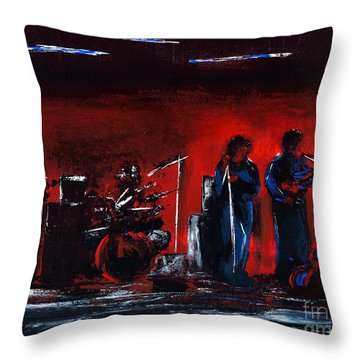 Up On The Stage Throw Pillow by Alys Caviness-Gober