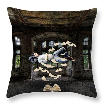Up Studying Throw Pillow by Marvin Blaine