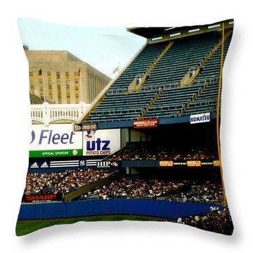Upper Deck  The Yankee Stadium Throw Pillow by Iconic Images Art Gallery David Pucciarelli