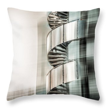 Urban Drill - Cyan Throw Pillow by Hannes Cmarits