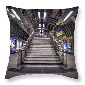 Urban Flight Throw Pillow by Evelina Kremsdorf