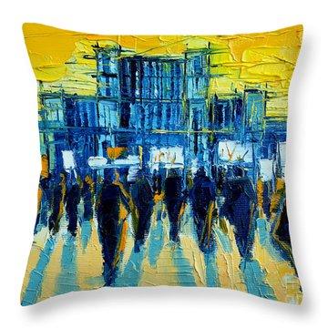 Urban Story - The Romanian Revolution Throw Pillow by Mona Edulesco