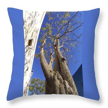 Urban Trees No 1 Throw Pillow by Ben and Raisa Gertsberg