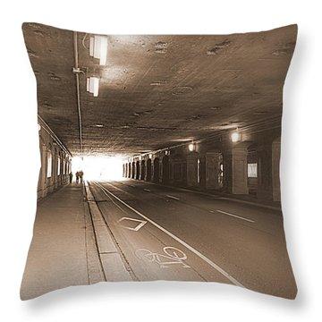 Urban Tunnel Throw Pillow by Valentino Visentini