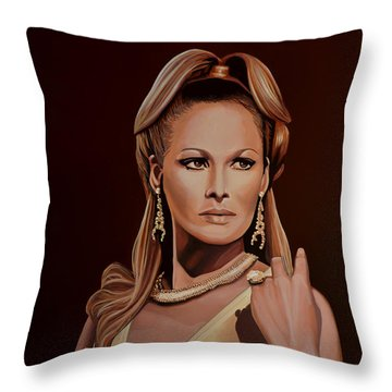 Ursula Andress Throw Pillow by Paul Meijering