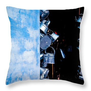 Uruguayan Tin  Throw Pillow by Cecil K Brissette