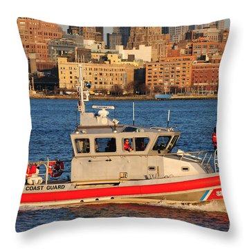 U.s. Coast Guard - Always Ready Throw Pillow by Paul Ward