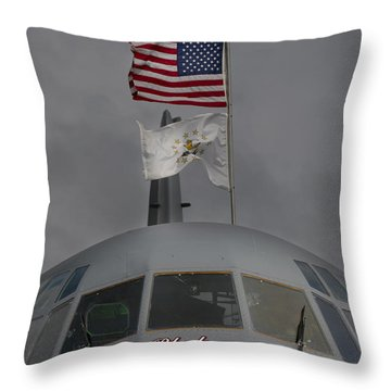 Usa In Africa Throw Pillow by Paul Job