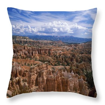 Usa, Utah, Bryce Canyon National Park Throw Pillow by Tips Images
