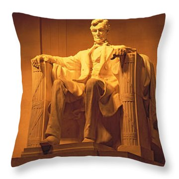 Usa, Washington Dc, Lincoln Memorial Throw Pillow by Panoramic Images