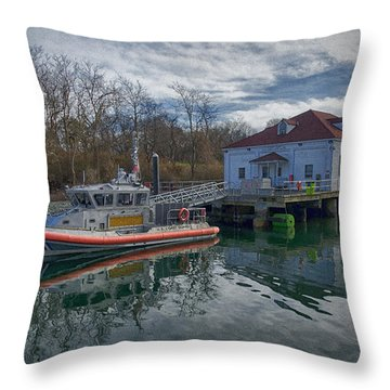 Usgs Castle Hill Station Throw Pillow by Joan Carroll
