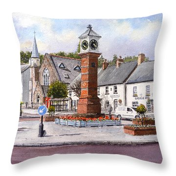 Usk In Bloom Throw Pillow by Andrew Read