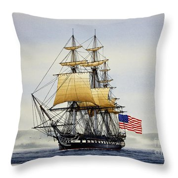 Uss Constitution Throw Pillow by James Williamson