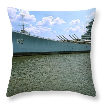 Uss New Jersey Throw Pillow by Olivier Le Queinec