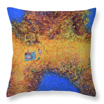 Vacationing On A Painting Throw Pillow by James W Johnson