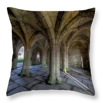 Valle Crucis Chapter House  Throw Pillow by Adrian Evans