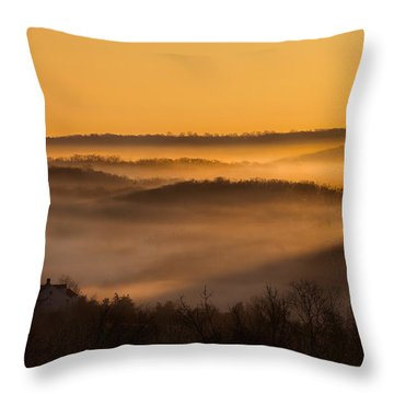 Valley Fog Throw Pillow by Bill Wakeley
