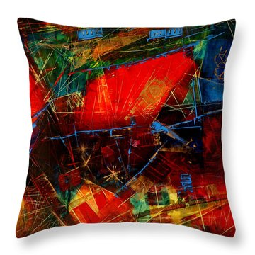 Valley  In  Provence Throw Pillow by Miroslav Stojkovic