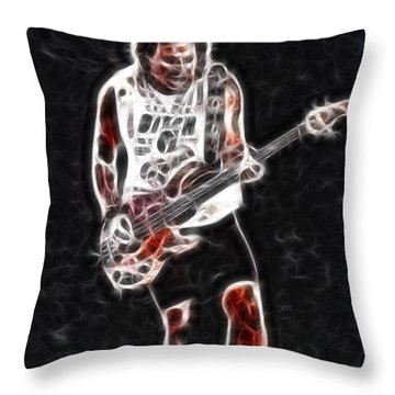 Van Halen-93-mike-gc23-fractal Throw Pillow by Gary Gingrich Galleries