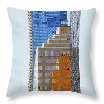 Vancouver Reflections No 1 Throw Pillow by Ben and Raisa Gertsberg