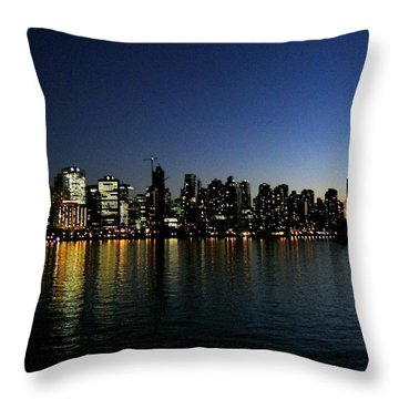 Vancouver Skyline Throw Pillow by Will Borden