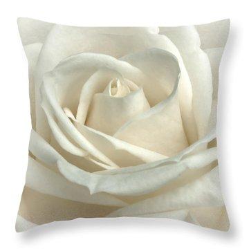 Vanilla Frosting Throw Pillow by Darlene Kwiatkowski