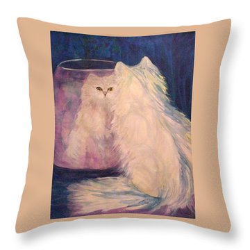 Vanity Throw Pillow by Carolyn LeGrand