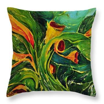 Variation  No.2 Throw Pillow by Teresa Wegrzyn