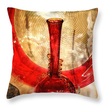 Vase And Tree Throw Pillow by Marty Koch