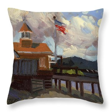 Vashon Island 4th Of July Throw Pillow by Diane McClary