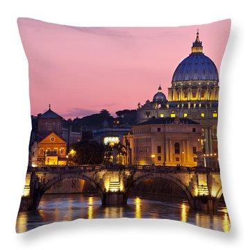 Vatican Twilight Throw Pillow by Brian Jannsen