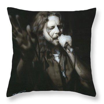 Eddie Vedder - ' Vedder IIi ' Throw Pillow by Christian Chapman Art