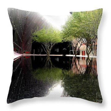 Vegas Reflections Throw Pillow by Tom Riggs