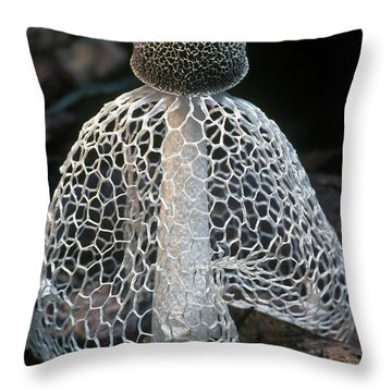 Veiled Lady Dictyophora Indusiata Throw Pillow by Albert Lleal