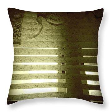 Venetian Blinds Throw Pillow by Les Cunliffe