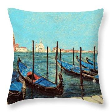 Venice Throw Pillow by Anastasiya Malakhova