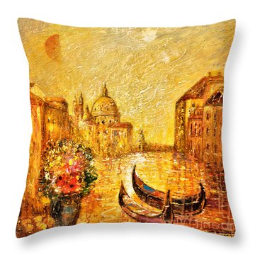 Venice II Throw Pillow by Shijun Munns